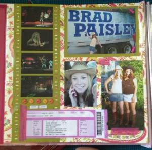 Scrapbook page of my first show & my ticket stub!