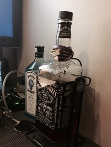 giant bottle of JD