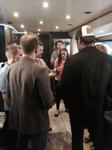 Everyone on Lee's tour bus
