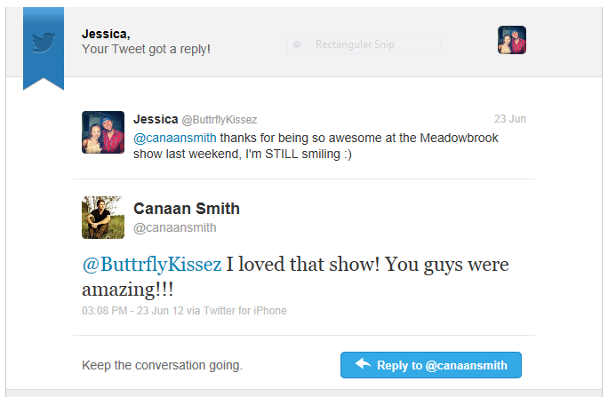 canaan smith reply